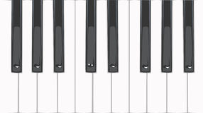 Piano keys. Vector illustration with piano keys Stock Images