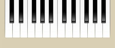 Piano Keys. Vector Illustration of Two Octaves of Piano Keys Stock Photos