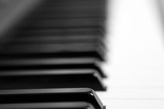 Piano Keys. Black and White Royalty Free Stock Images