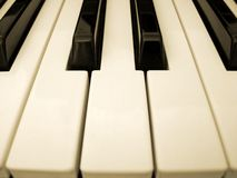 Piano keys. Close-up of C, D and E keys stock photography