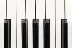 Piano keys. Photographed close up Royalty Free Stock Photography
