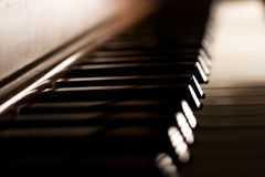 Piano Keys. On an antique piano Stock Images