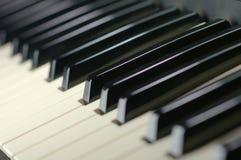 Piano keys. Black and white piano keys; electronic piano keys Stock Images