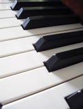 Piano Keys. Close-up detail on piano keys Royalty Free Stock Photography