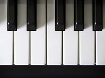 Piano Keys. Close-up detail on piano keys Royalty Free Stock Photos
