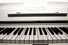 Piano keys. Royalty Free Stock Photos
