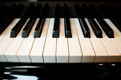 Piano Keys. A grand piano upclose view of middle C royalty free stock images
