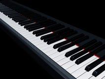 Piano keys. Illustration of a piano reflecting the keys Stock Image