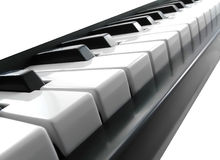 Piano keys. Royalty Free Stock Image