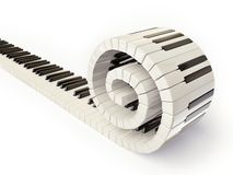 Piano keys. Conceptual piano keys isolated on white Royalty Free Stock Photos