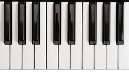 Piano Keys. Black and white piano keys stock image
