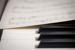 Piano keys Royalty Free Stock Photos