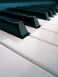 Piano keys. Detail, keys in a row royalty free stock photos