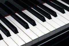 Piano keys. Ebony and ivory piano keys on a high quality grand piano