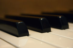Piano Keys. Macro shot of piano keys with shallow depth of field Stock Images