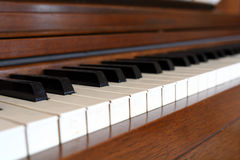 Piano Keys. Inentionally blur of piano keys Royalty Free Stock Image