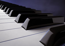 Piano keys. 3d rendering of  piano keys Royalty Free Stock Image