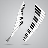 Piano keys. Vector illustration for design Stock Photography