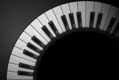Piano keys. On black background. Illustration for design Stock Image