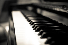 Piano keys. Black and white piano keys Royalty Free Stock Photos