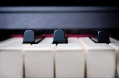 Piano keys. A close up of piano keys front on Stock Photo