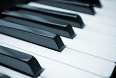 Piano keys. Close-up of black and white piano keys royalty free stock images