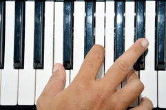 Piano keys Stock Images