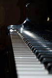 Piano Keys. Looking down a piano's keys Stock Photography