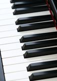 Piano Keys. Close up of piano keys which give high quality sound Royalty Free Stock Images
