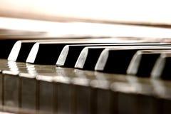 Piano Keys. Piano key Close up, shallow DOF royalty free stock photos