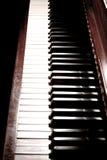 Piano Keys. On an antique piano Stock Photo