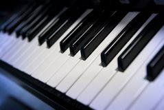 Piano keys. Creativity and imagination creates music Royalty Free Stock Photography