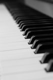Piano keys. Black and white piano keys for music concepts Stock Photography