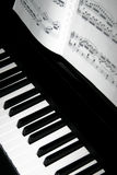 Piano Keys. With Sheet Music stock photos