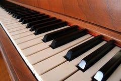 Piano Keys. Piano keys span the length of its keyboard Royalty Free Stock Photo