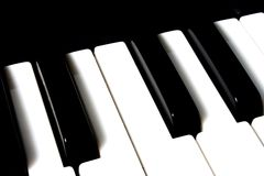 Piano Keys. Close up of the white and black keys on a piano royalty free stock images