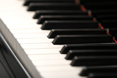 Piano keys. A shot of piano keys royalty free stock photos