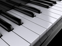 Piano keys. Close up of piano keys - rendered in 3d Stock Image