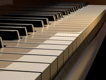 Piano keys. Close up of piano keys - rendered in 3d Royalty Free Stock Images