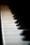 Piano Keys. With shallow depth of field Stock Image