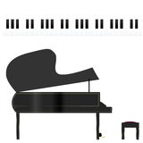 Piano and keys Royalty Free Stock Images