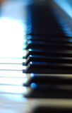 Piano Keys. Partially in focus / blurred Stock Image