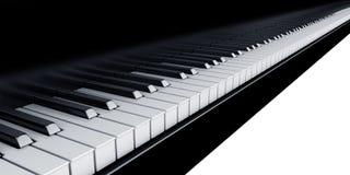Piano keys. 3d rendering of piano keys Stock Image