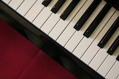 Piano keys. Close up shot of piano keys stock images