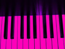 Piano keys. Black and pink piano keys Stock Image