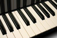 Piano keys. Keyboard macro Stock Photos