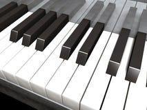 Piano keys. Rendered keys on piano Royalty Free Stock Photos