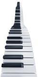 Piano keys. 3d rendering of wavy piano keys Royalty Free Stock Photo