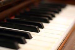 Piano keys. Closeup Royalty Free Stock Images