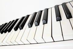 Piano keys. Isolated on white background Royalty Free Stock Photo